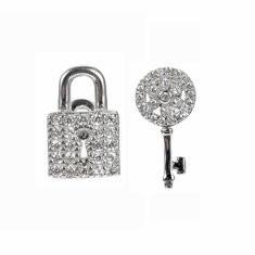 JASSY® 925 Silver Lock Key Stud Earrings-US$22.76