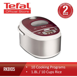 Tefal Fuzzy Logic Spherical Pot 10 functions Digital Rice Cooker 1.8L R-RM299.00