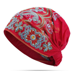 Embroidery Ethnic Cotton Beanie Hat-RM55.35
