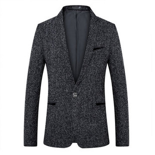 Mens Business Casual Single Breasted Slim Bl -US$39.46