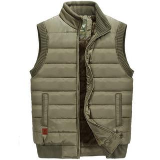 Men's Outdoor Military Thicken Down Vest-US$37.99