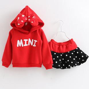 Christmas Girls Sweatshirt Skirt Sets 3-11Y -US$31.99