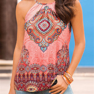 RM68.01 - Sexy Ethnic Print Beach Tank Top