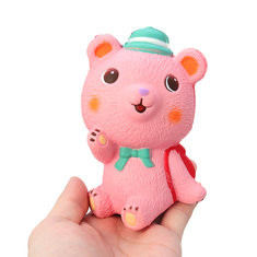 Pink Schoolbag Bear Squishy-US$6.83
