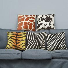 Animals Skin Pattern Super Soft Velvet Cushion Cover -RM5.8