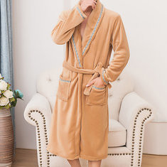 Pure Color Flannel Robes-US$19.99