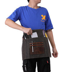 Vinatge Oil Wax Waist Bag Apron Garden Waterproof Fanny Bag