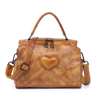 Women Genuine Leather Vintage Heart-shape-US$71.79