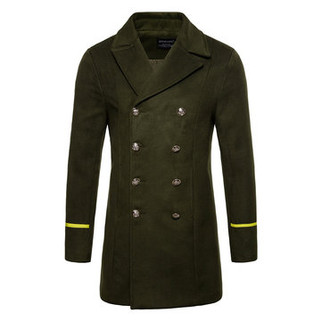 RM229.48-Mid Long Warm Wool Trench Coat