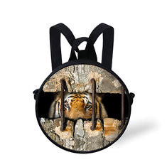 Fashion 3D Crevice Roar Animal Series Backpack School Bag for Primary School Students-US$15.65