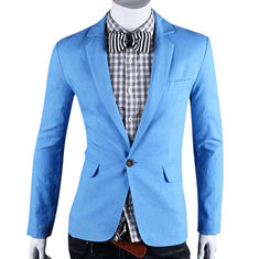 Single Breasted ure Color Cotton Suit-US$26.99