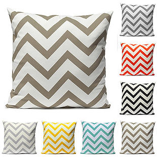 Vintage Zig Zag Wave Printed Cushion Cover Home Decor Throw Pillow Case - RM29.76