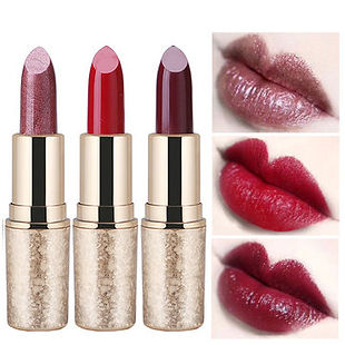QIC Metallic Matte Lipstick Moisturizer Smooth Lips Stick Long Lasting Charming Cosmetic - RM40.74