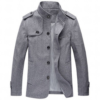 RM178.73-Mens Fashion Solid Loose Trench Coat