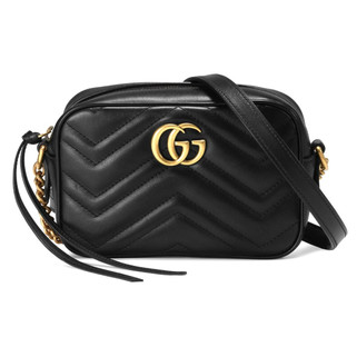 Gucci 448065 DTD1T 1000 GG Marmont Matelasse Mini Crossbody Bag, Black RM3,867.00