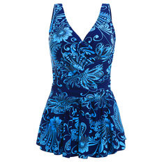 Printed Backless Ruffled Swimdresses-RM110.78