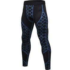 Mesh Printing Patchwork Sport Elastic Skinny Tights