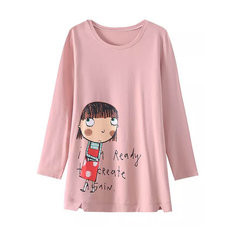 Cartoon Letter Print Sweatshirt-RM85.88