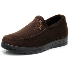 Men Fabric Slip On Casual Driving Boots-RM92.27