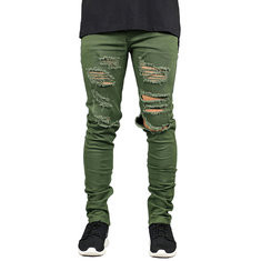 Skinny Ripped Fashion Jeans-US$20.92