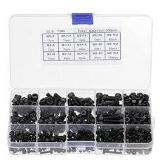 500Pcs M3 M4 M5 Black Carbon Hexagon Cup Button Head Screw-US$23.15