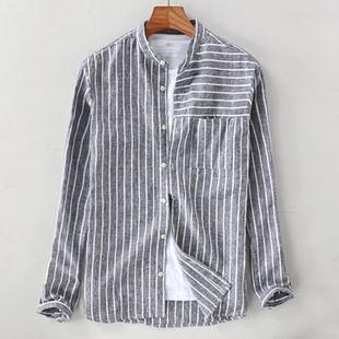 Cotton Linen Striped Vintage Bre -US$19.88