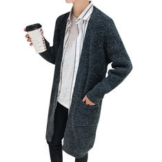 Mens Mid Length Loose Breathable Cardigan-US$44.53