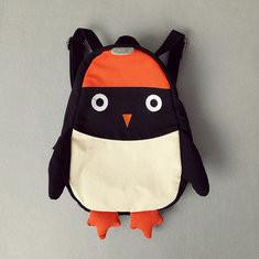 Kindergarten Children Cartoon Penguin Backpack Canvas Crossbody Bag-US$13.14