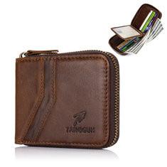 Bifold Vintage Genuine Leather 9 Card Slot Wallet
