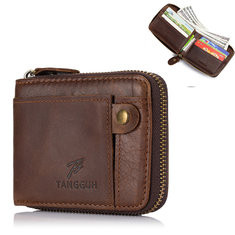 Bifold Men Genuine Leather 8 Card Slot Wallet