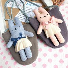 1-3 Years Old Children Kids Cartoon Rabbits Crsossbody Bag Casual Shoulder Bag-US$7.83
