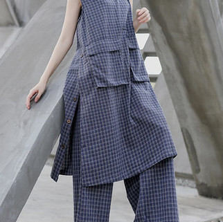 RM199.77 -Vintage Plaid Sleeveless Dress