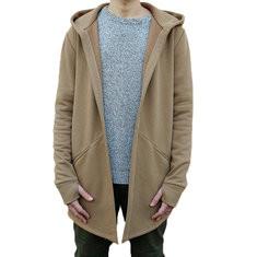 Casual Solid Color Long Sleeve Hoodie-US$26.38
