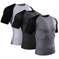 Mens Short Sleeve Tight Fitness T-shirt