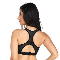 Wireless Full Cup Shockproof Cotton Pad Sports Bra-RM59.42