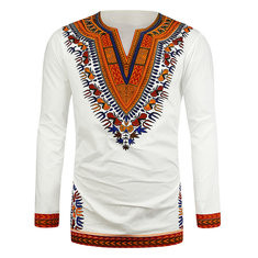 Cotton African Ethnic Style 3D T Shirts-US$25.29