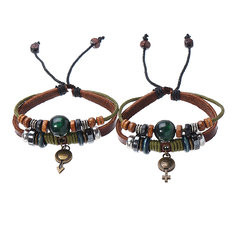Lover's Leather Couple Bracelet-US$11.87