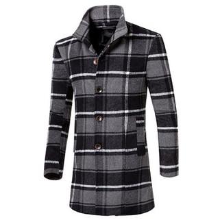 RM172.95-Mens Styliah Plaid Coat