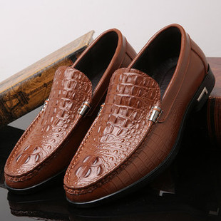 Men Crocodile Pattern Low Top Slip On Casua -US$39.71