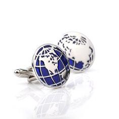 Mens Globe Round Cufflinks-RM29.28