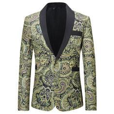 Formal Printing Slim Director Dressing Suits-US$42.38