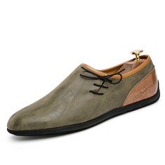 Men Microfiber Leather Soft Casual Driving Shoes-RN161.00