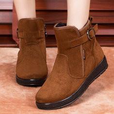Faux Fur Warm Zip Cotton Boots-RM168.91
