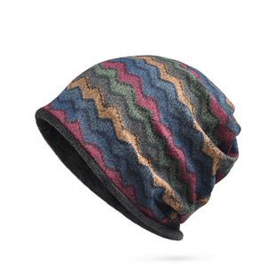 Print Stripe Beanie Hats -RM40.67