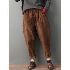 Corduroy Solid Color Harem Pants-RM167.50