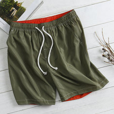 Quick Dry Solid Color Board Shorts-US$15.48