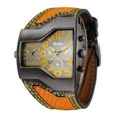 Sport Leather Quartz Wristwatch -RM180.16