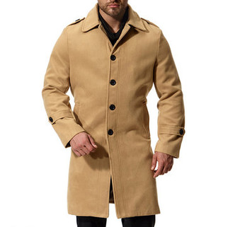RM170.53-Thick Warm Wool Mid-long Coats