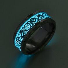 Funny Blue Luminous Ring-RM64.31