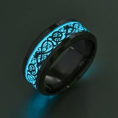 Funny Blue Luminous Ring-RM64.31